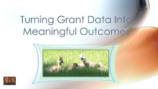 Turning Grant Data Into      Meaningful Outcomes