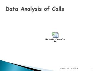 Data Analysis of Calls