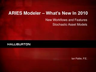 ARIES Modeler – What's New In 2010