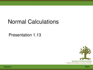 Normal Calculations