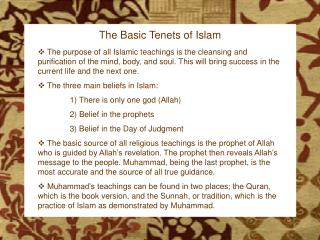 The Birth of Islam
