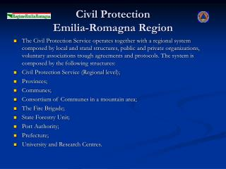 Civil Protection  Emilia-Romagna Region