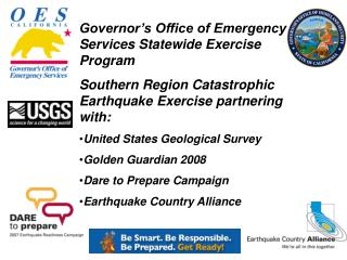 Governor's Office of Emergency Services Statewide Exercise Program