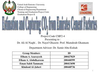 Estimation and Capturing CO 2  from Emirates Cement Factories