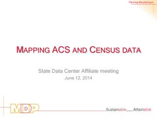 Mapping ACS and Census data