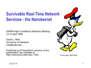 Survivable Real-Time Network Services - the Nanokernel