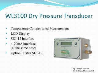WL3100 Dry Pressure Transducer