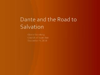 Dante and the Road to Salvation