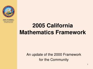 2005 California Mathematics Framework