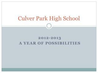 Culver Park High School