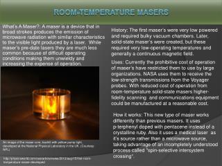 Room-Temperature Masers