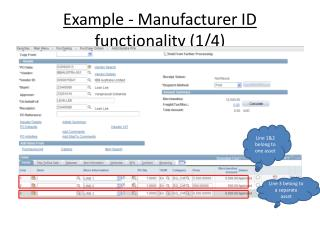 Example - Manufacturer ID functionality (1/4)