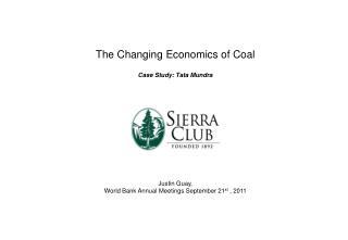 The Changing Economics of Coal Case Study: Tata Mundra