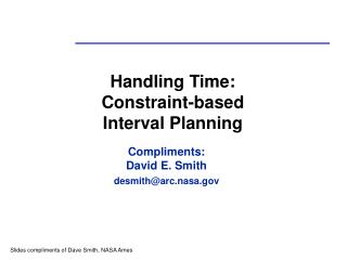 Handling Time: Constraint-based  Interval Planning