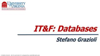 IT&F :  Databases