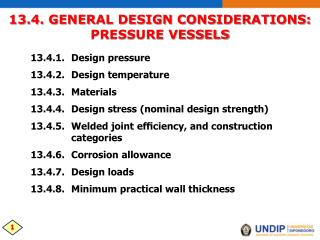 13.4. GENERAL DESIGN CONSIDERATIONS: PRESSURE VESSELS