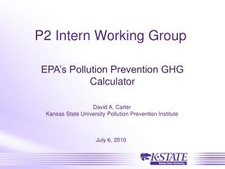 P2 Intern Working Group
