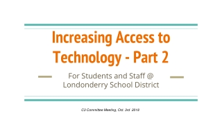 Does Technology Influence Teaching Practices in the Classroom