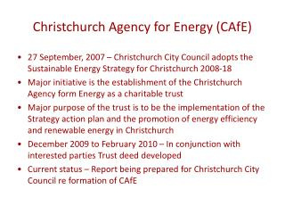 Christchurch Agency for Energy (CAfE)