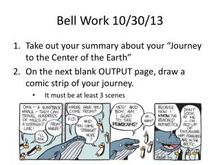 Bell Work 10/30/13