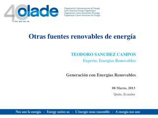 Otras fuentes renovables de energía