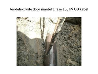 Aardelektrode door mantel 1 fase 150 kV OD kabel