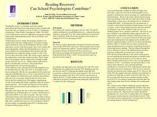 Reading Recovery: