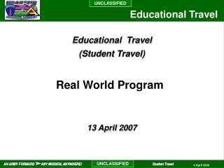 Educational  Travel (Student Travel)