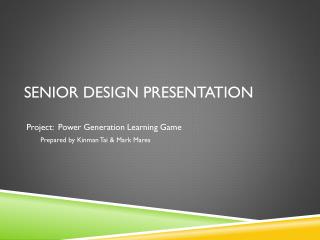 Senior design presentation