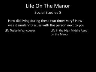 Life On  T he Manor