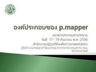องค์ประกอบของ  p.mapper
