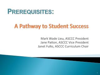 A Pathway to Student Success