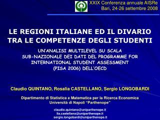 LE REGIONI ITALIANE ED IL DIVARIO TRA LE COMPETENZE DEGLI STUDENTI UN'ANALISI MULTILEVEL SU SCALA