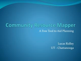 Community Resource Mapper