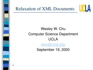 Relaxation of XML Documents