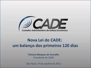 Nova Lei do CADE:  um balanço dos primeiros 120 dias