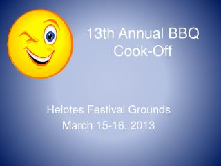 13th Annual BBQ Cook-Off