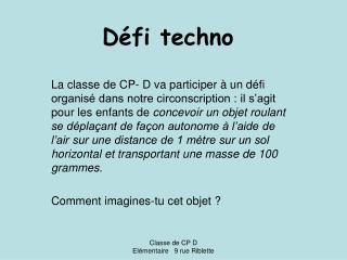 Défi techno