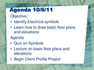 Agenda 10/6/11