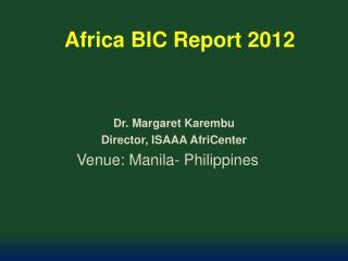 Africa  BIC Report 2012