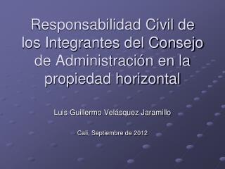 Responsabilidad Civil de los Integrantes del Consejo de Administración en la propiedad horizontal