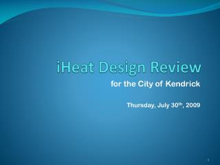 iHeat  Design Review
