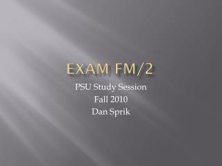 Exam FM/2