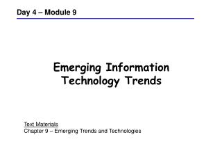 Emerging Information Technology Trends