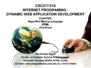 CSC317/318 INTERNET PROGRAMING / DYNAMIC WEB APPLICATION DEVELOPMENT