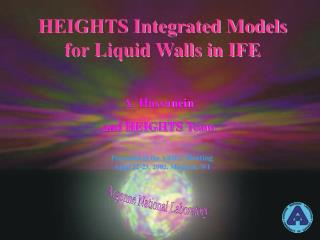 HEIGHTS Integrated Models for Liquid Walls in IFE