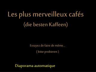 Les plus merveilleux cafés (die besten Kaffeen)