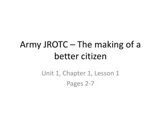 Army JROTC – The making of a better citizen