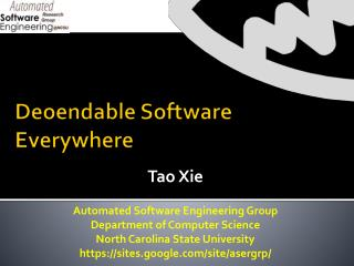 Deoendable  Software Everywhere