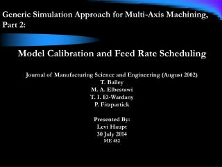 Generic Simulation Approach for Multi-Axis Machining,  Part 2: